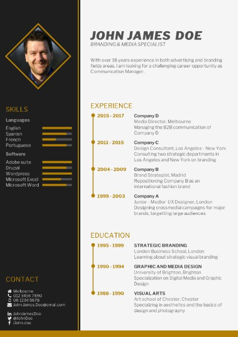 choose your cv template