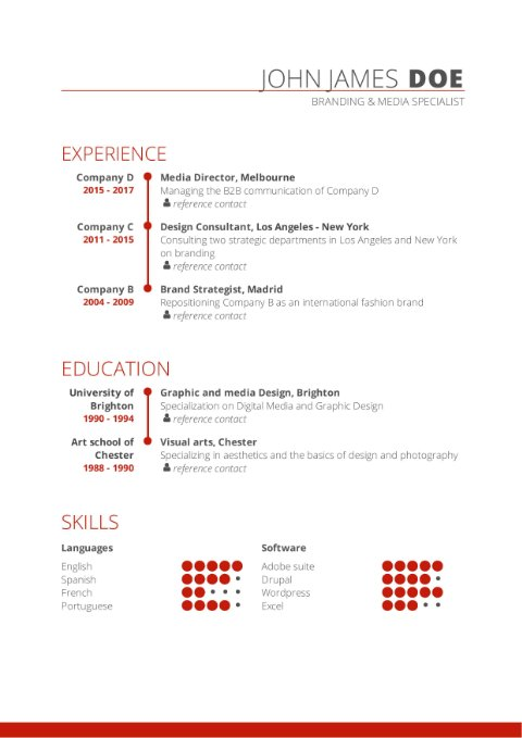 CV Template visual
