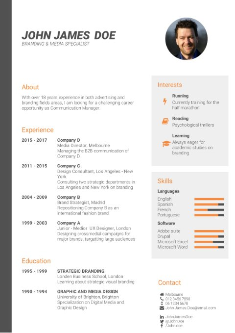 CV Template professional