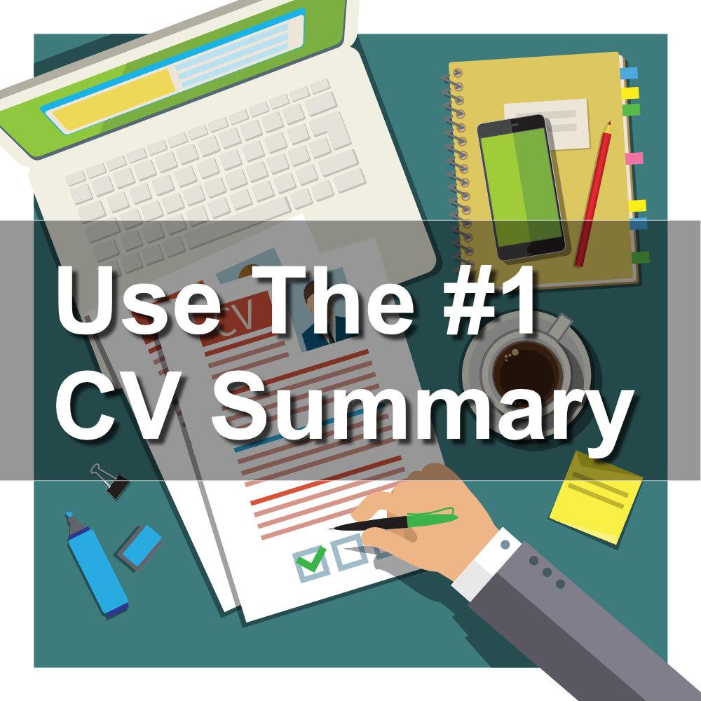 Write a powerful CV summary - How to write a CV   CV-Template