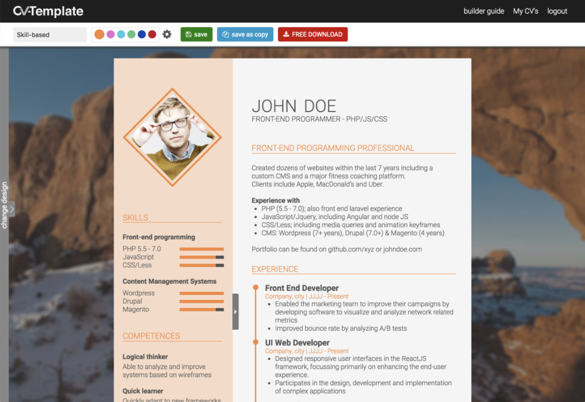 How to write a strong CV without work experience (CV Template for