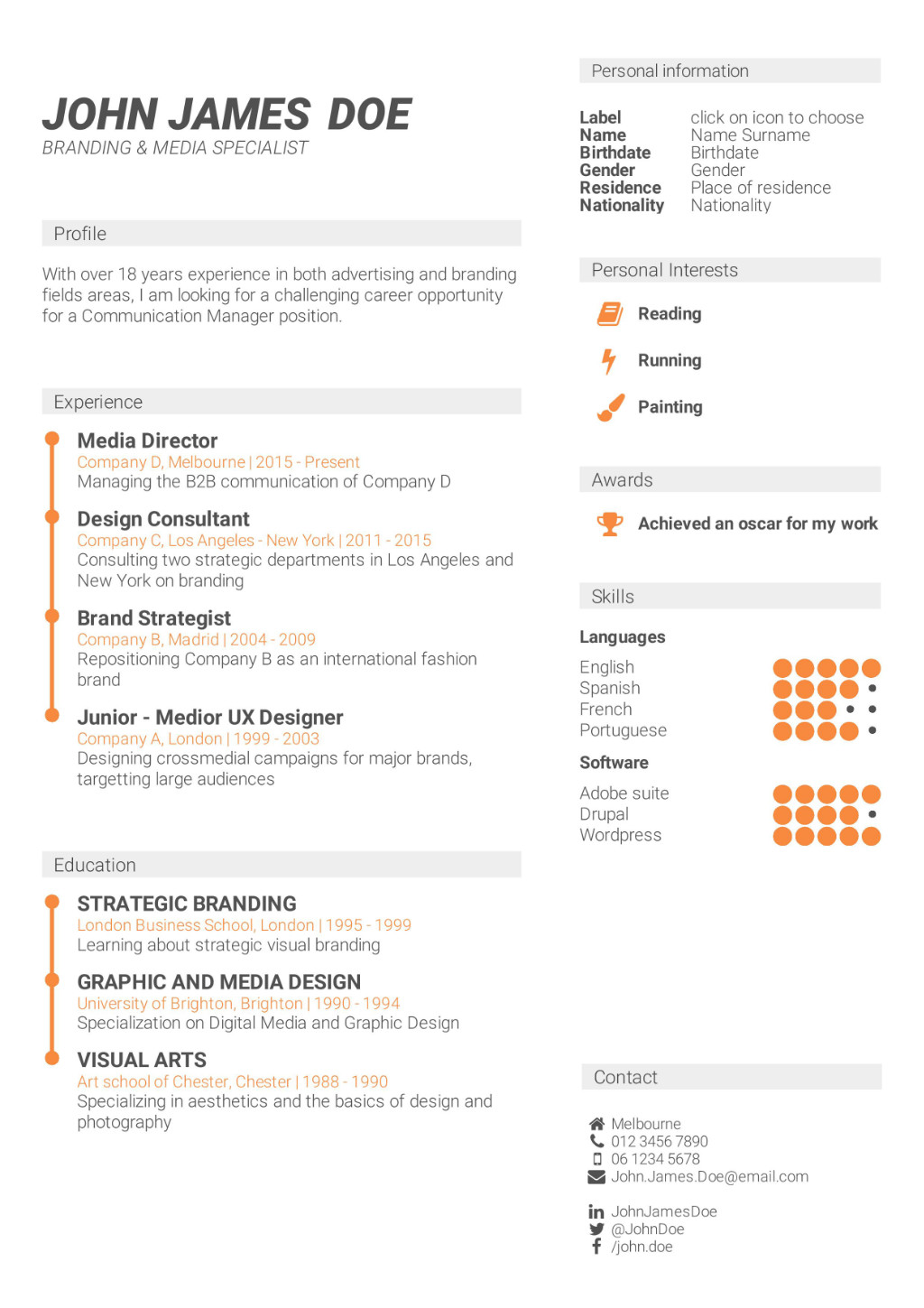 What is the best cv format how to write a cv cv template cv template chronological and skill based cv yelopaper Choice Image
