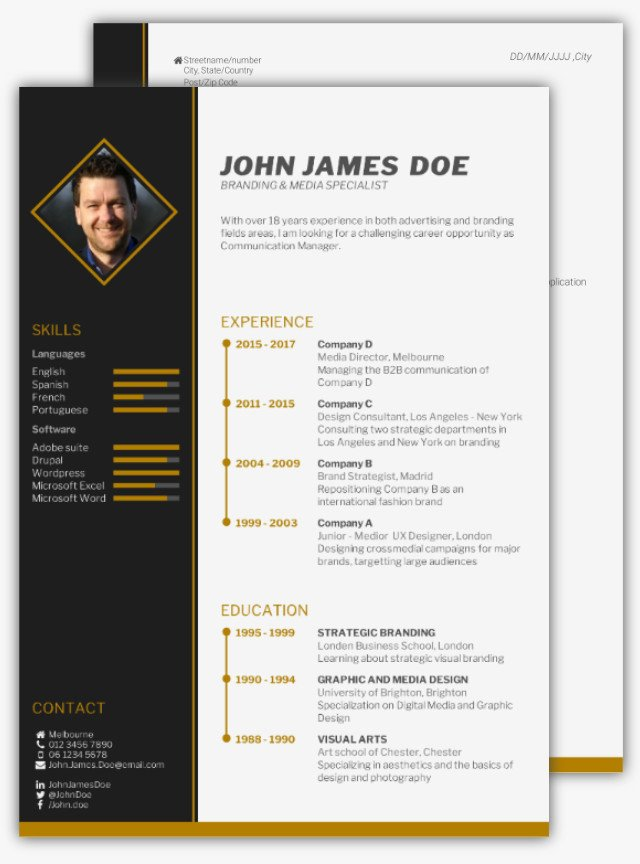 What is the best cv format how to write a cv cv template cv template 1 yelopaper Image collections
