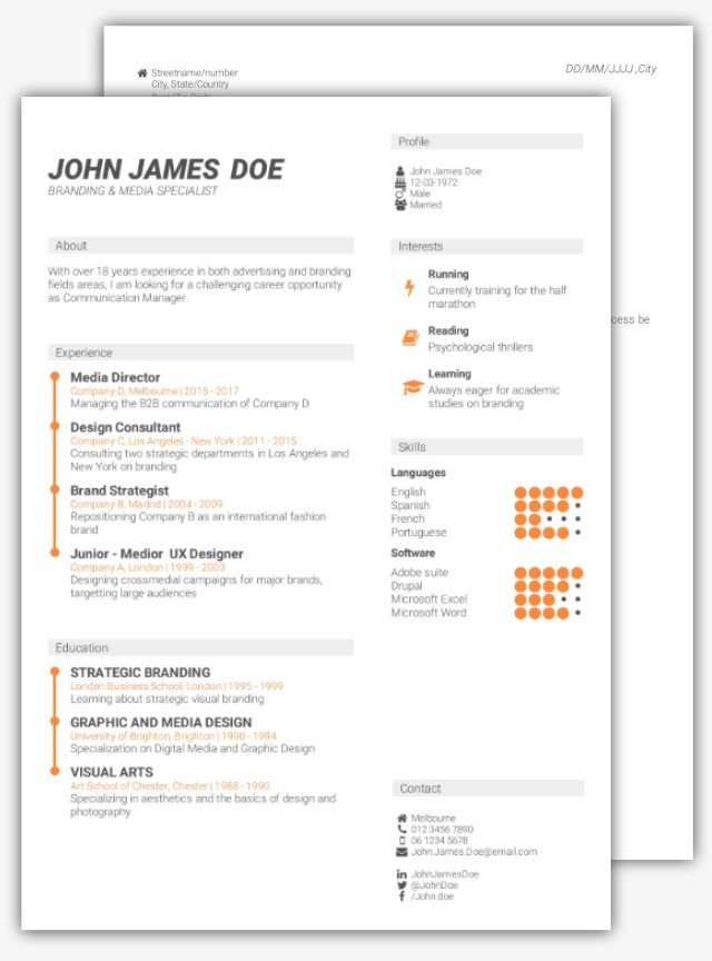 how to create a curriculum vitae online