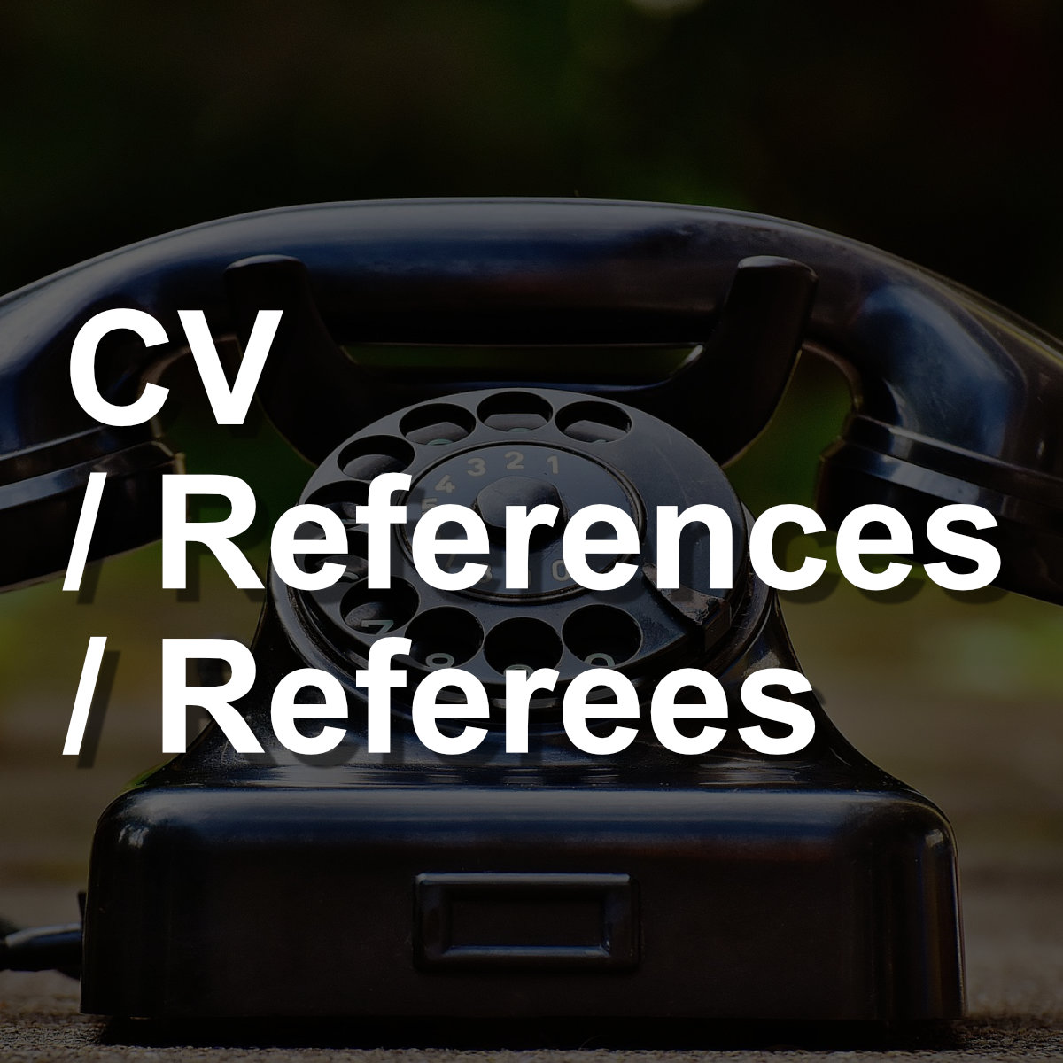 Get Great CV References Referees