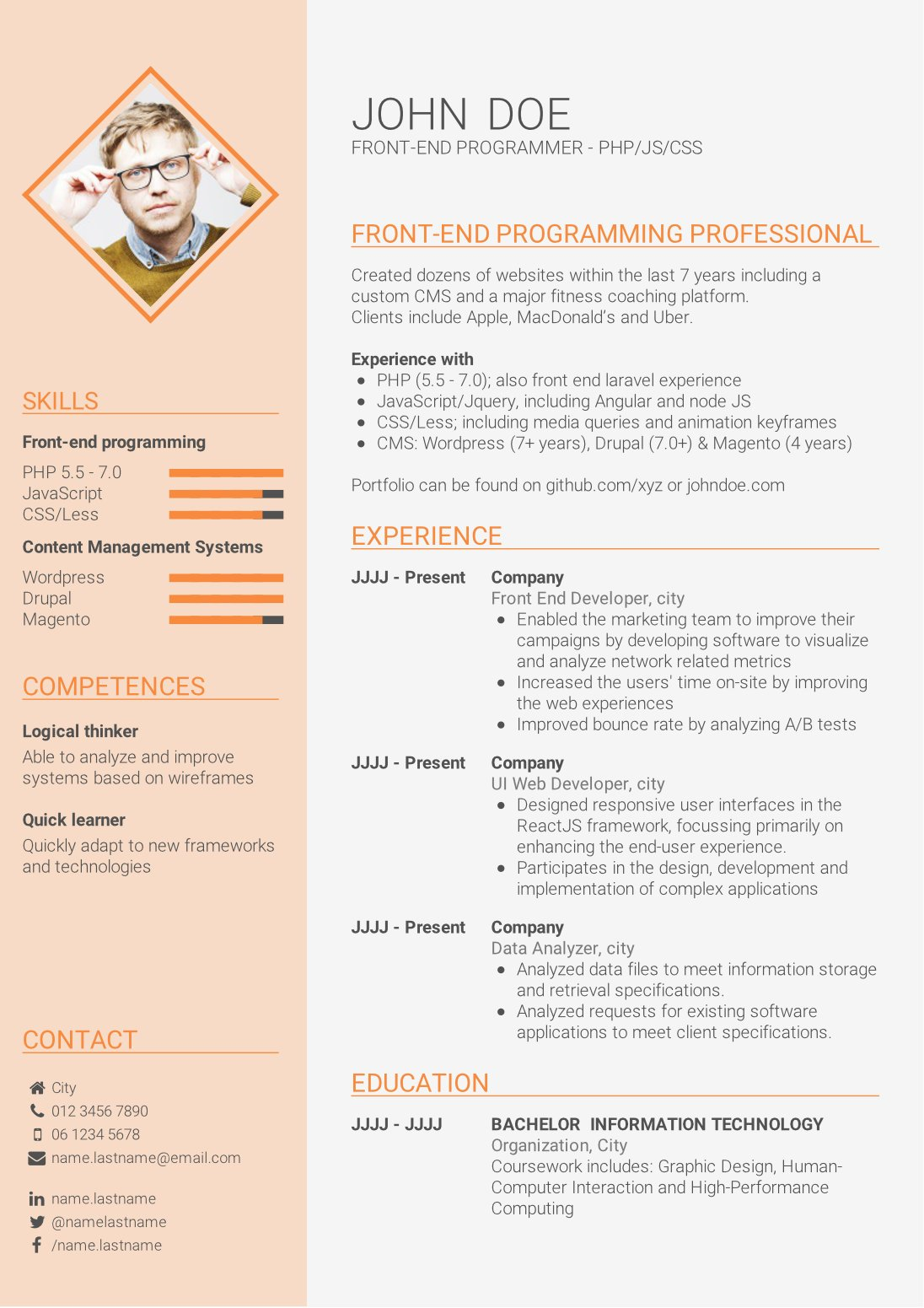 Write a powerful CV summary - How to write a CV | CV-Template