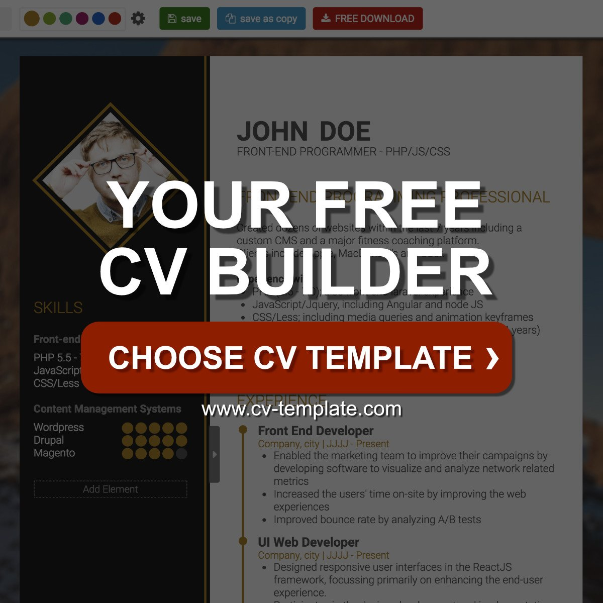 CV-Template | Free Online CV Builder, Best CV Templates