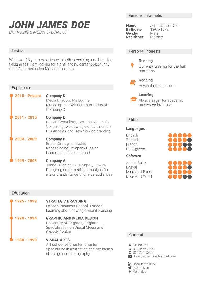 CV-Template | Erstellen Sie jetzt Ihhren perfekten Lebenslauf