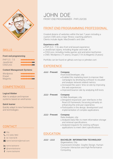 Recommended skill-based CV template