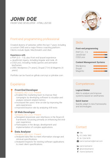 how to choose your ideal cv template