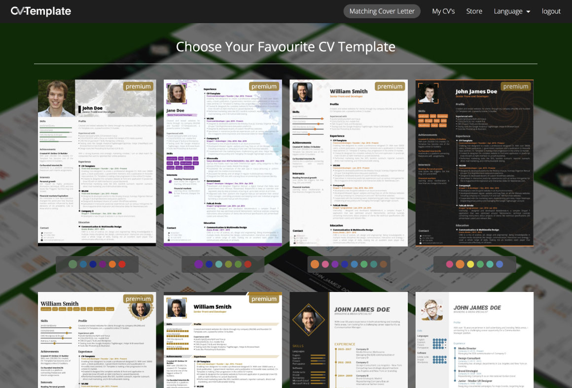 stand out with these CV templates