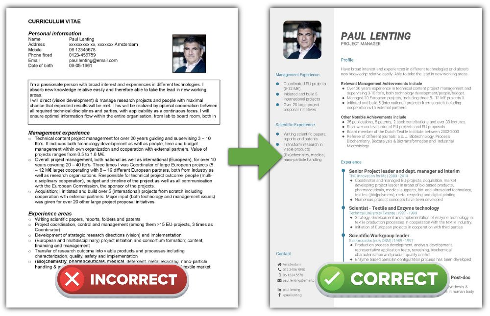 what is the best cv format